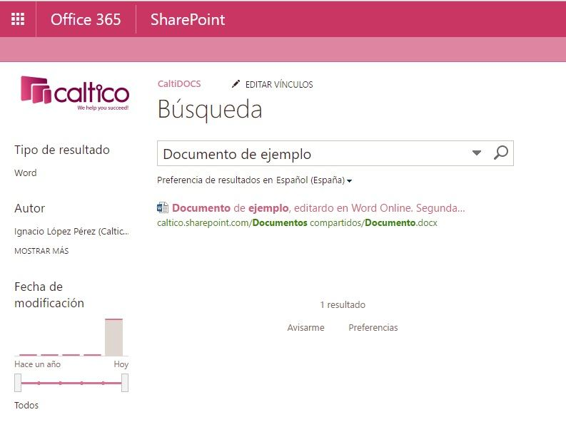 sharepoint online buscador